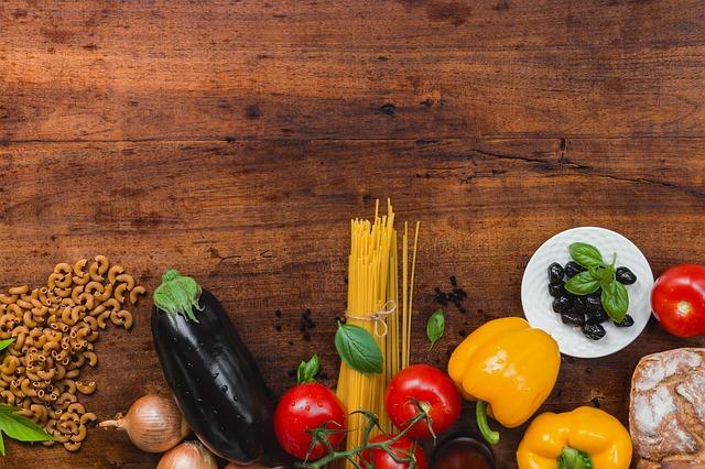 špagety a zelenina